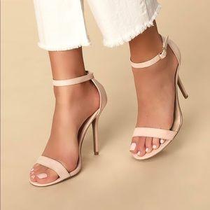 """LULUS """"elsi"""" nude single strap heel"""